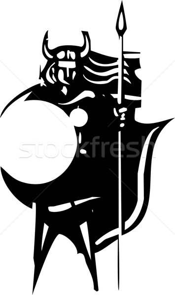 Stock photo: Valkyrie with spear