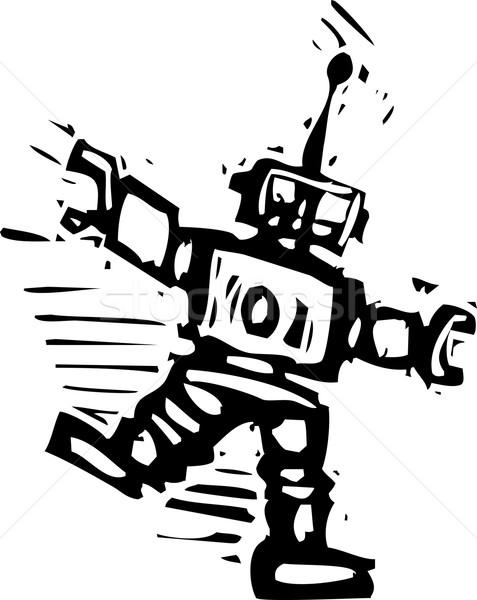 Baile robot grande danza multitud Foto stock © xochicalco