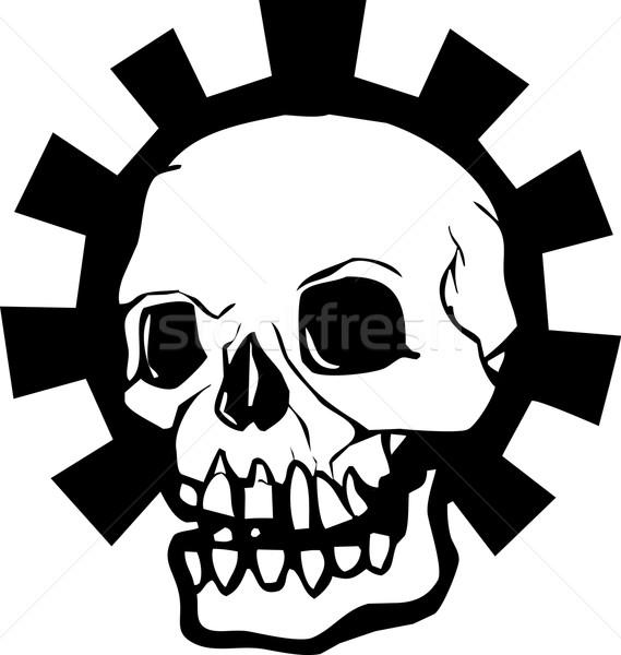 Gear череп полный человека гало механический Сток-фото © xochicalco