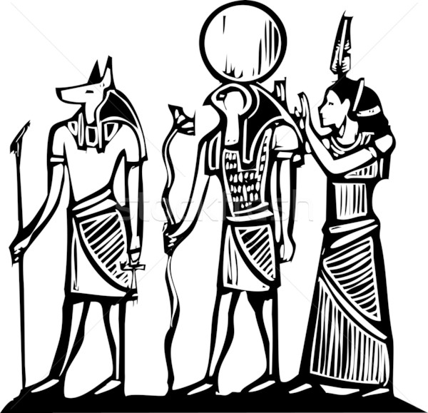 Anubis and Horus Stock photo © xochicalco