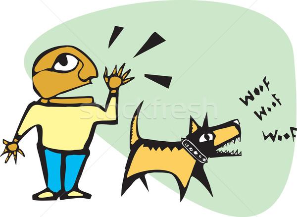 Yelling Barking Stock photo © xochicalco