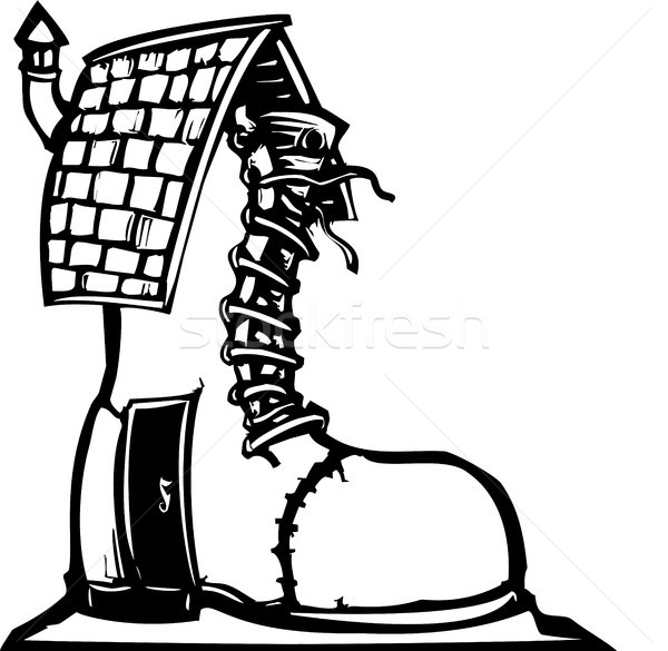 Fairytale Shoe House Stock photo © xochicalco