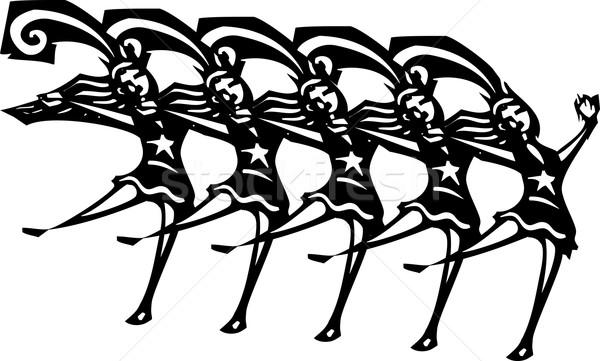 Coro línea estilo imagen mujeres vegas Foto stock © xochicalco
