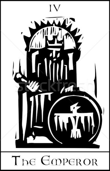 Таро карт император экспрессионист стиль изображение Сток-фото © xochicalco