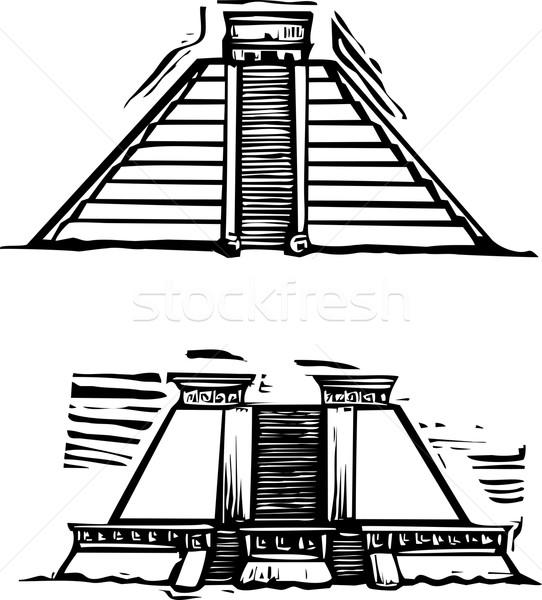 Mayan Pyramids Stock photo © xochicalco
