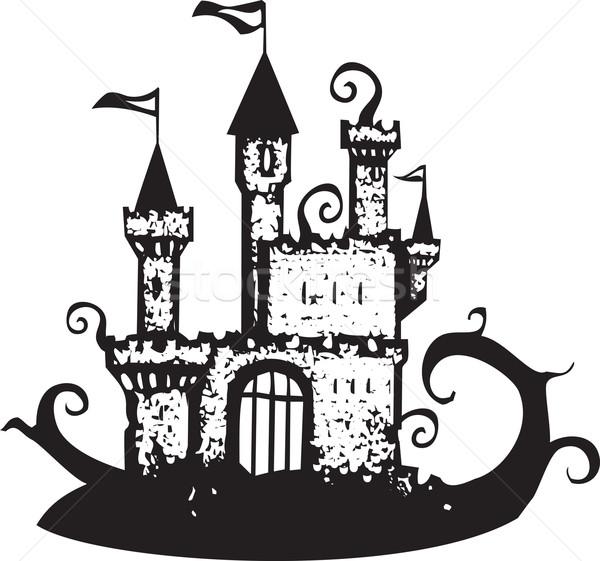 Magia videira coberto castelo spiralis Foto stock © xochicalco