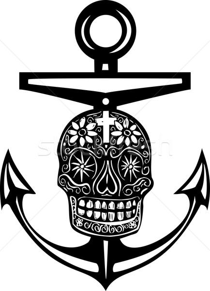 Gün ölü çapa stil deniz Meksika Stok fotoğraf © xochicalco