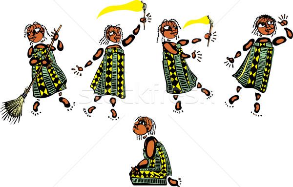 молодые африканских девушки смешанный Dance Сток-фото © xochicalco