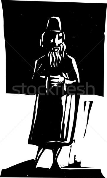 Man Alone Stock photo © xochicalco