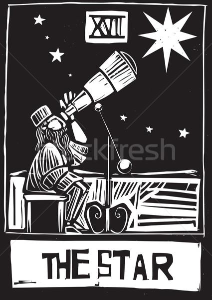 звездой Таро карт стиль ночь мечта Сток-фото © xochicalco