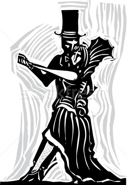 Gotik çift dans goth tango Stok fotoğraf © xochicalco