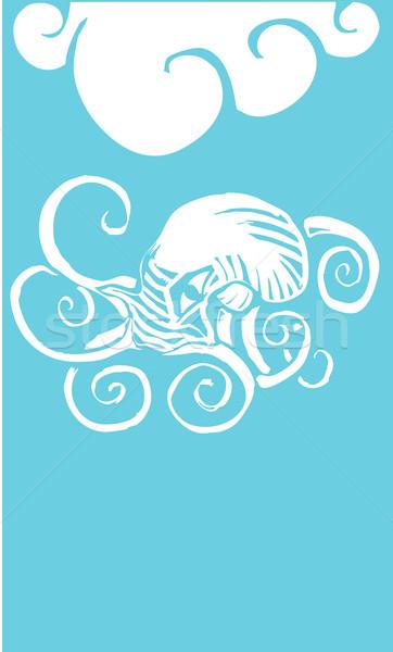 осьминога подводного плаванию океана волны морем Сток-фото © xochicalco