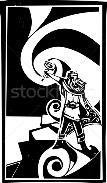 Norse God Thor Stock photo © xochicalco