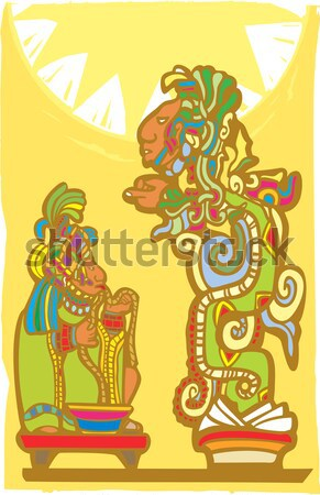 Mayan Blood Sacrifice Stock photo © xochicalco