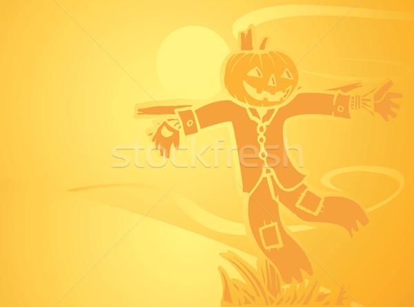 ハロウィン かかし オレンジ 画像 ストックフォト © xochicalco