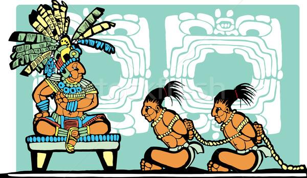 Rey trono guerra selva dios Foto stock © xochicalco