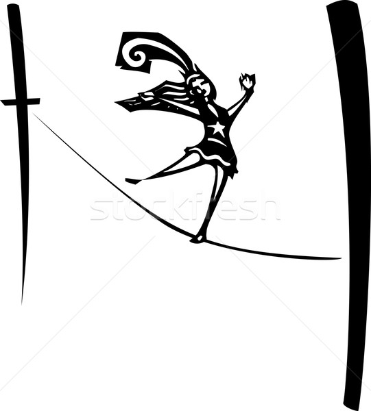 Tightrope Walker Stock photo © xochicalco