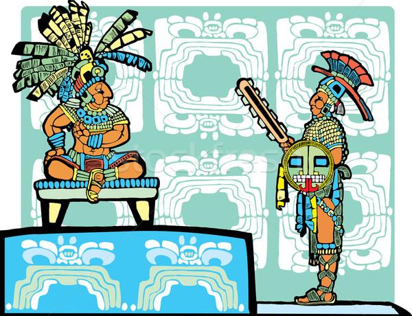 Mayan King and Warrior Stock photo © xochicalco