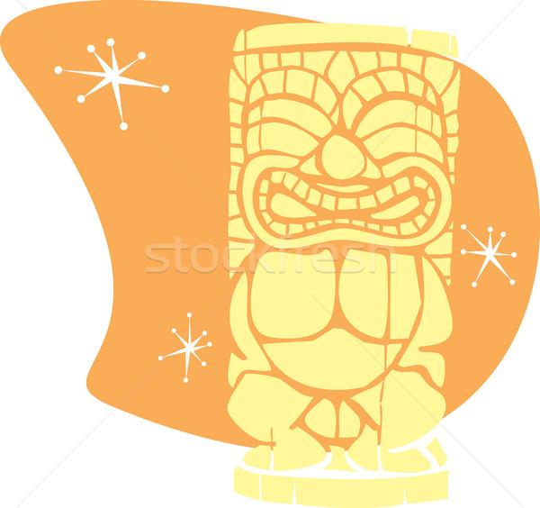 Retro Tiki Warm Stock photo © xochicalco