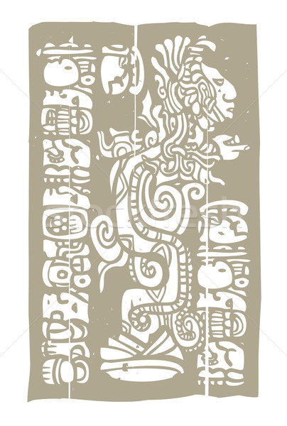 Mayan Vision Serpent and Glyphs Stock photo © xochicalco