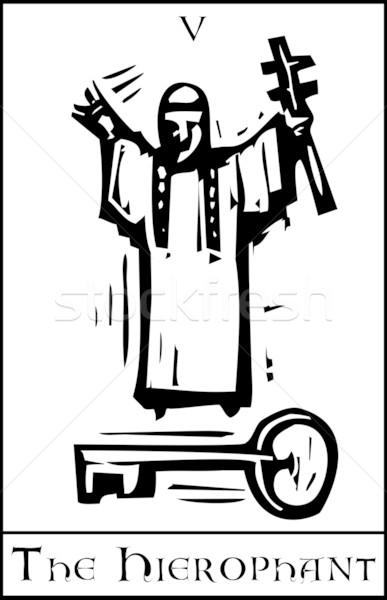 Tarot carte expressionniste style avenir cartes Photo stock © xochicalco
