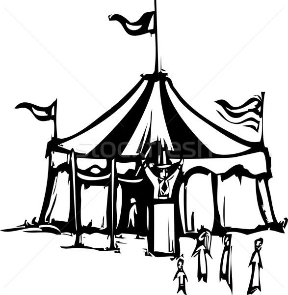 Circo tenda espressionista stile immagine carnevale Foto d'archivio © xochicalco
