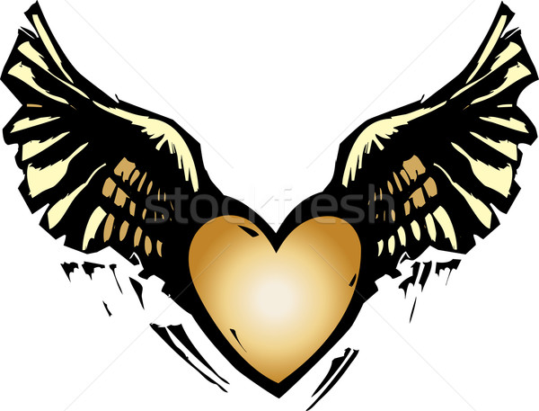 Winged Heart Stock photo © xochicalco