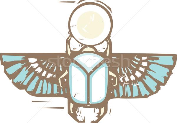 египетский скарабей стиль жук солнце Сток-фото © xochicalco