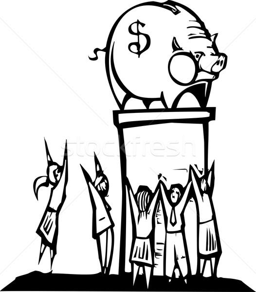 Worshiping Banks Stock photo © xochicalco