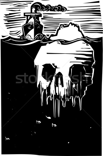 Iceberg Skull Stock photo © xochicalco
