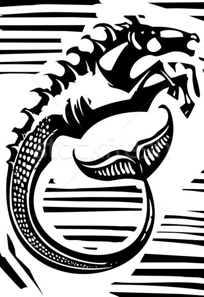 Mitológico estilo imagem grego cavalo mar Foto stock © xochicalco