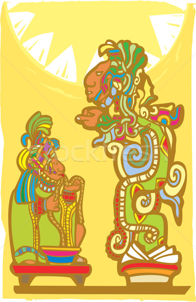 Mayan Sacrifice and Vision Serpent Stock photo © xochicalco