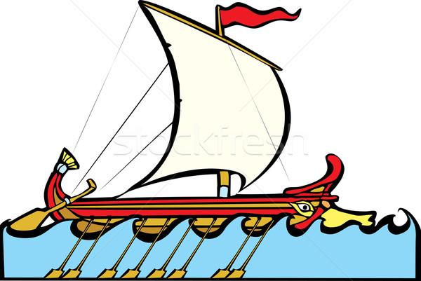 Grec voile style Voyage échanges Photo stock © xochicalco