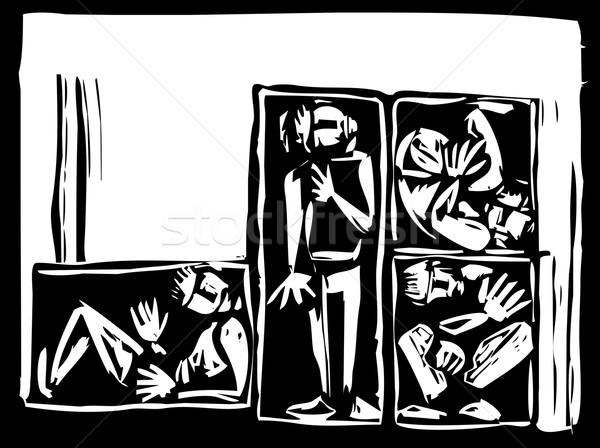 Boys in a Box Stock photo © xochicalco