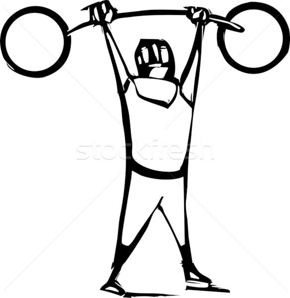 сильный человека стиль изображение цирка Сток-фото © xochicalco