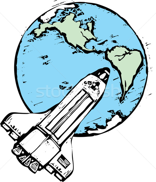 Space Shuttle in Orbit Stock photo © xochicalco