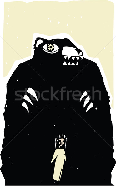 Hungry Bear Stock photo © xochicalco