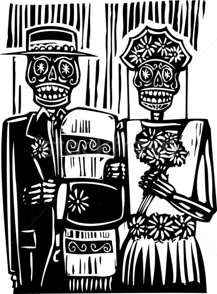 Day of the Dead Wedding Stock photo © xochicalco