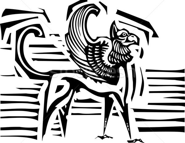 Griffin stile immagine mitologico angelo aquila Foto d'archivio © xochicalco