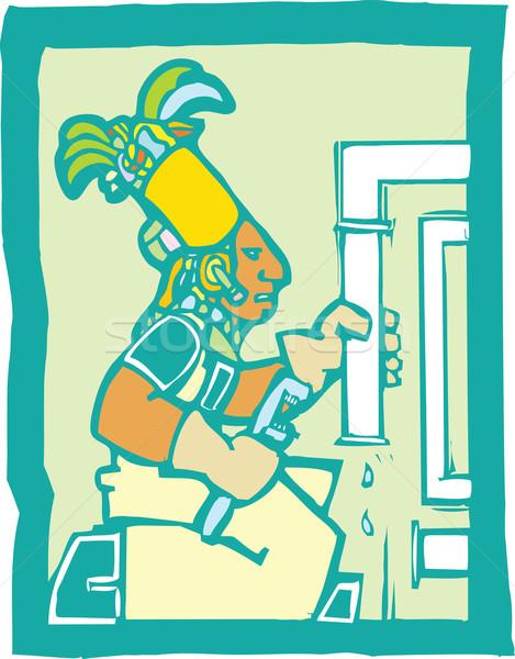 Mayan Plumber  Stock photo © xochicalco