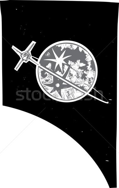 Moon and Satellite Stock photo © xochicalco