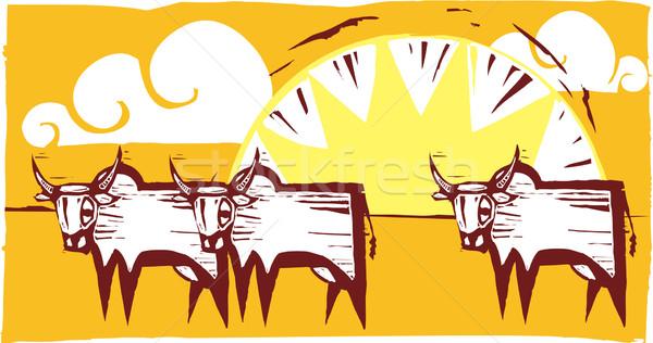Safari Scene #4 Stock photo © xochicalco