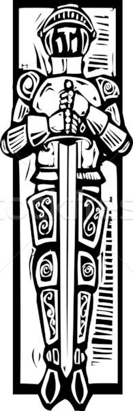 Knight Burial Image Stock photo © xochicalco