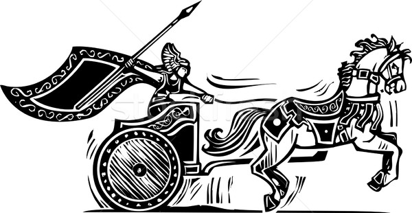 Valkyrie Chariot Stock photo © xochicalco