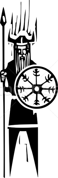 Viking with Wheel Symbol Stock photo © xochicalco