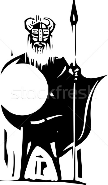 Woodcut Viking Stock photo © xochicalco