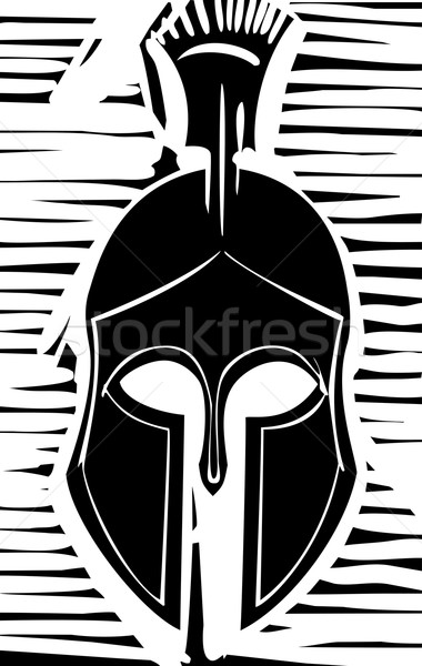 Hoplite Greek Helmet Stock photo © xochicalco
