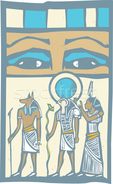 Hieroglyph Eyes Stock photo © xochicalco
