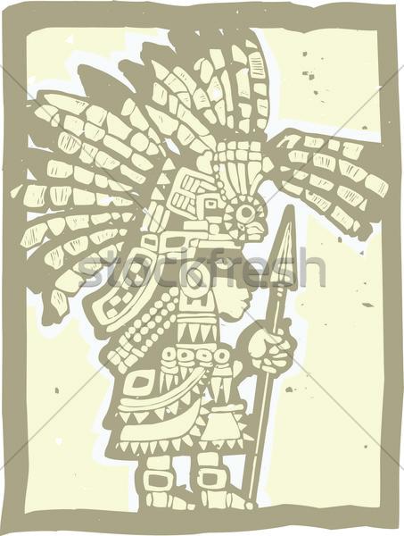 Teotihuacan Warrior  Stock photo © xochicalco