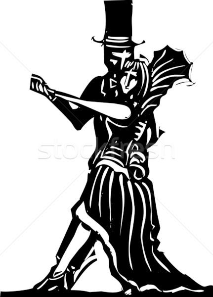 Gotik çift dans basit goth Stok fotoğraf © xochicalco